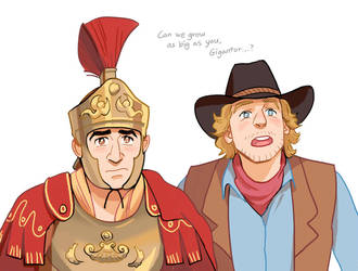 Octavius and Jedediah by Hallpen