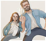 Logan and Laura by Hallpen