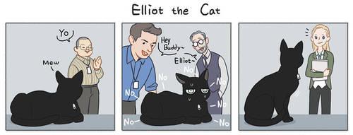 Elliot the Cat by Hallpen