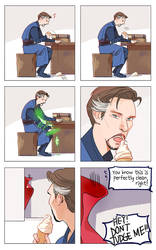 Dr.Strange's quiet good friend :) by Hallpen