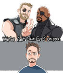 We've got our eyes on you by Hallpen
