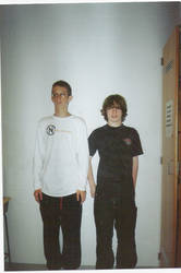 me and ryan a year ago by BlackMetalGrave