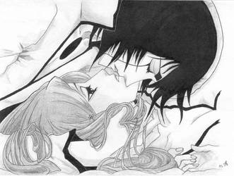 ulquiorra and orihime by upsman12344321