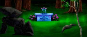 Kyrandia - Forest altar - screenshot-painting 1 by Taleea