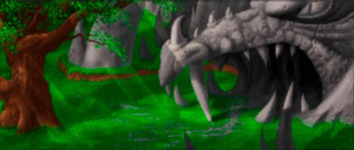 Kyrandia - Serpent Grotto entrance - painting 2 by Taleea