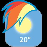 MLP:FiM Rainbow Dash Mane iPhone Weather Icon by craftybrony