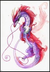 China purple dragon by Rait-StormDragoness
