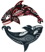 Orcas by Rait-StormDragoness