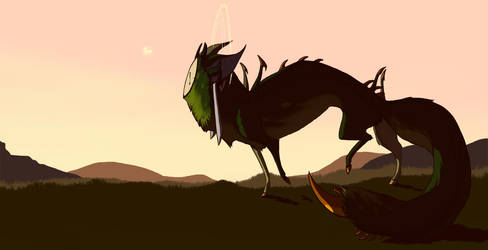 Sunset Creature by Rait-StormDragoness