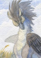 ACEO for Chickenzaur by Rait-StormDragoness