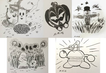 Hoshi no Kaabii Inktober 11-15 by Birdon14