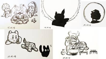 Hoshi no Kaabii Inktober 16-20 by Birdon14