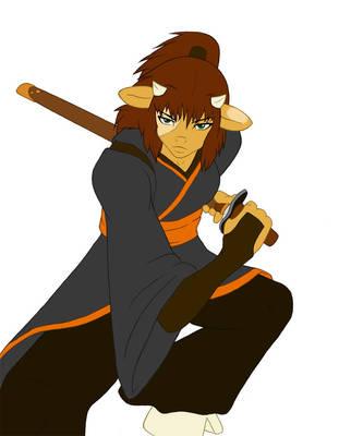 Minotaur Samurai by Faharis