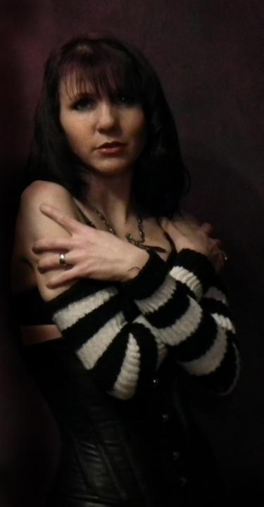 Leather corset by Alisha-Mordicae