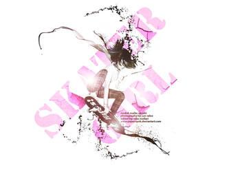 Skater Girl Maiko Okuaki by papernyok