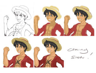 Pirate King Luffy (WIP) by papernyok