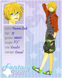 Fantasy Idol : Xaverius Zade by xynthi