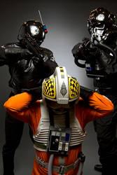 Imperial Gunner + Tie Fighter Pilot + Rebel Pilot by convokephoto