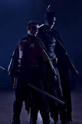 Arkham Batman and Robin by convokephoto