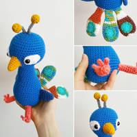 Amigurumi Peacock by hiro-chan28