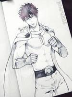 Saitama One Punch Man by Jouvru