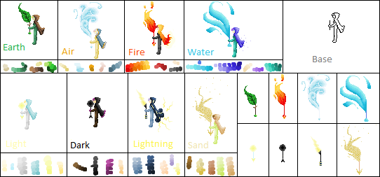 Elemental Mages by Rosenwood1