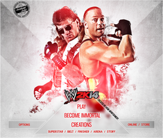 WWE 2K14 CUSTOM START MENU#1 by Llliiipppsssyyy