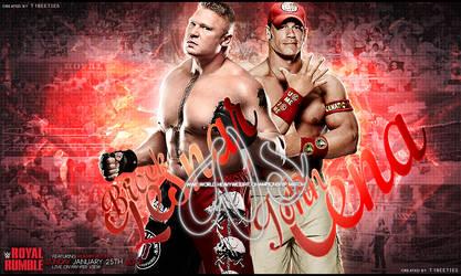 Royal Rumble 2015 Brock Lesnar vs John Cena by Llliiipppsssyyy
