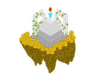 Isometric floating island by worldglitch