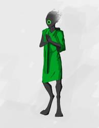 Alien monk concept by worldglitch