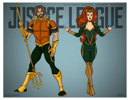 Justice League - Aquaman and Mera Redesigns by Femmes-Fatales