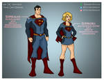 My DCU - Superman and Supergirl Year One Designs by Femmes-Fatales
