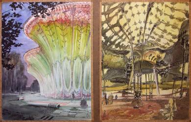 Crystal palaces - watercolor sandbox 2 by TheGreatMC