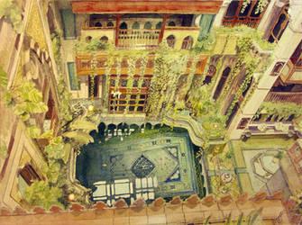 Sami Angawi house - inner courtyard by TheGreatMC