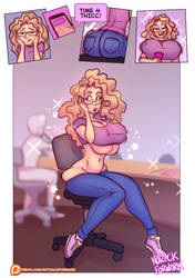 Thicc Riley is Thicc by notzackforwork