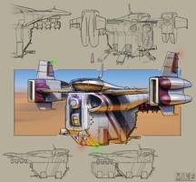 Spaceship Concept by michaellimsstuff