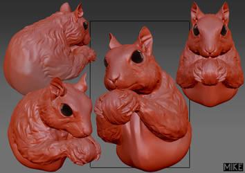 Squirrel by michaellimsstuff