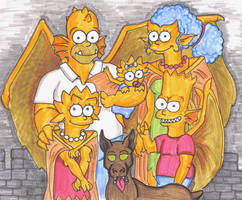 Simpsons Gargoyles by piecesoeight
