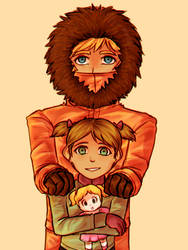 Kenny and Karen by azulila