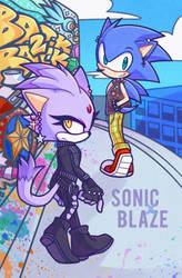 Sonic x Blaze by azulila