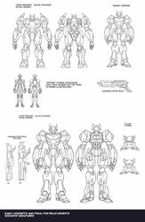 Codebreaker and  Zombie Cypher Figures concept by neurowing