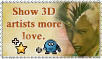 Stamp: love 3d artists by Sheona-Stock