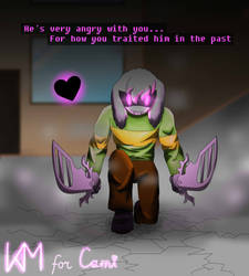 Glitchtale. Hate!Asriel (Panel redraw) Y2018 by KroccovepMan