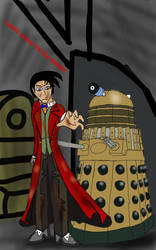 lewis stone vs the daleks  by balloondani