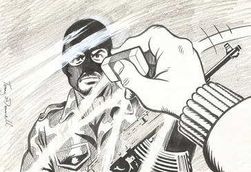 Anti terrorist cartoon by ga-ren