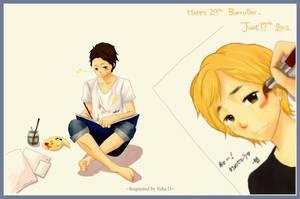 Nino's birthday! by xmeltedxazukix