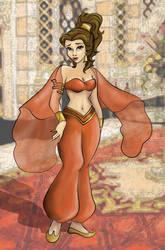 Belle as Jasmine Colored by princessmk