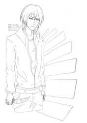 Human Jin(Sketch) by pokeczarelf