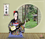 Sayo playing the Shamisen by SayuriMVRomei