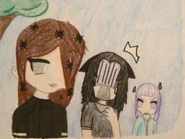 3 friends by Wolfie0412